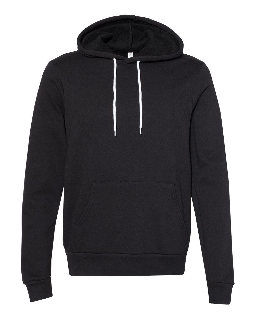 BELLA & CANVAS Customizable Hoodie in Black