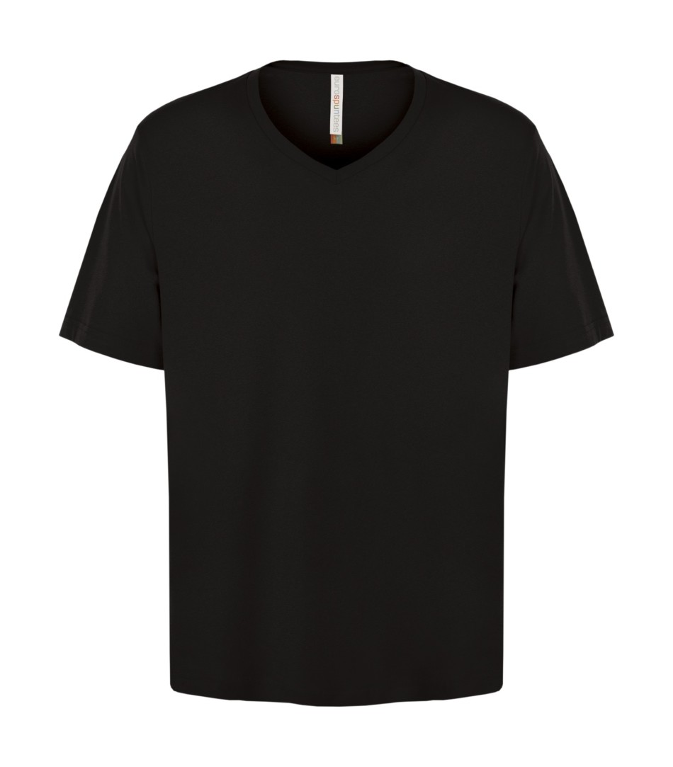 Customizable Unisex V-neck T-shirt - Black