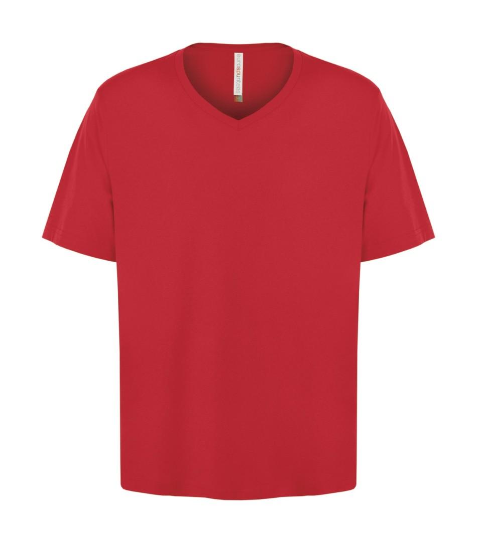 Customizable Unisex V-neck T-shirt - True Red