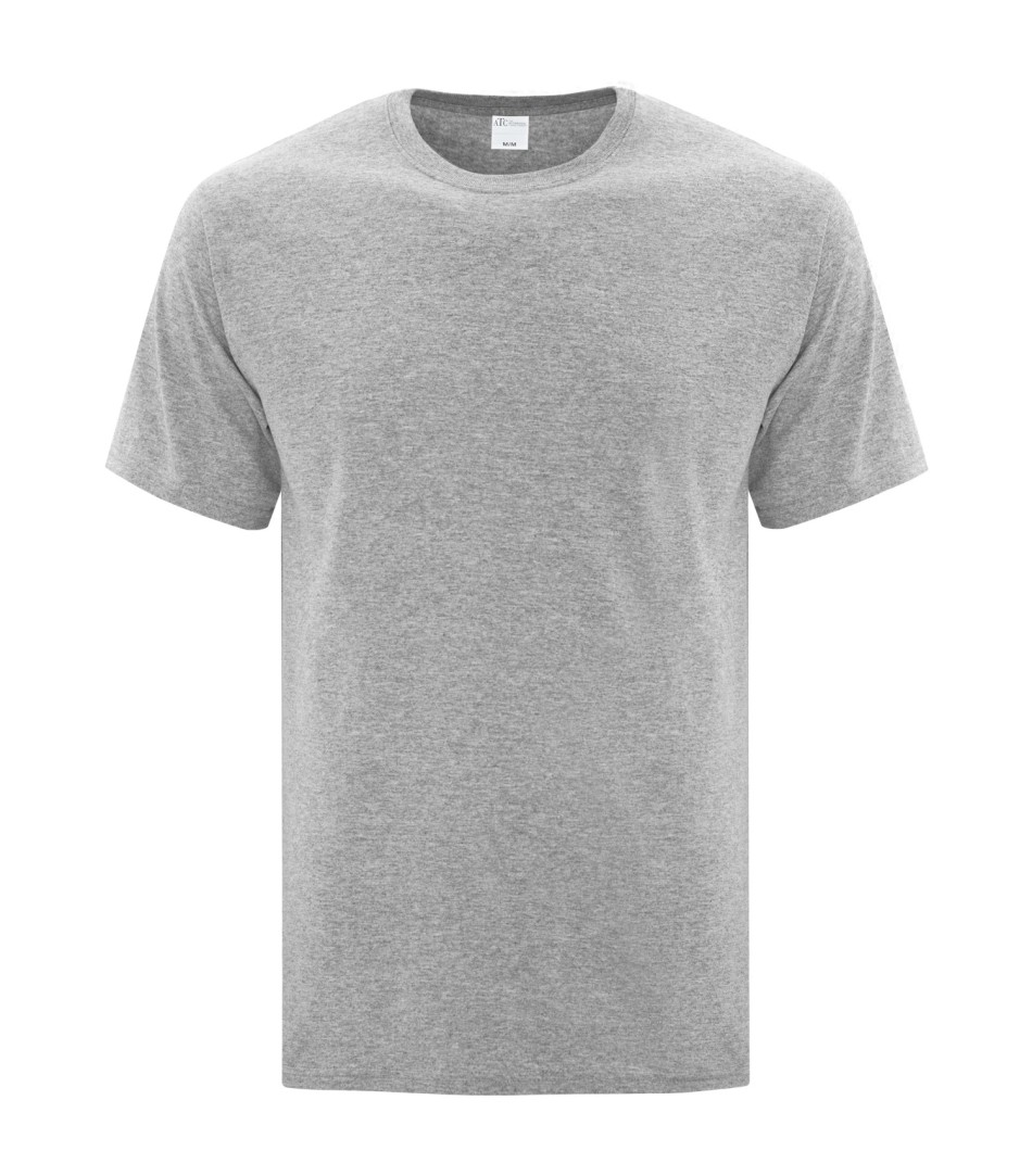 Athletic Grey Unisex Everyday Cotton Tshirt