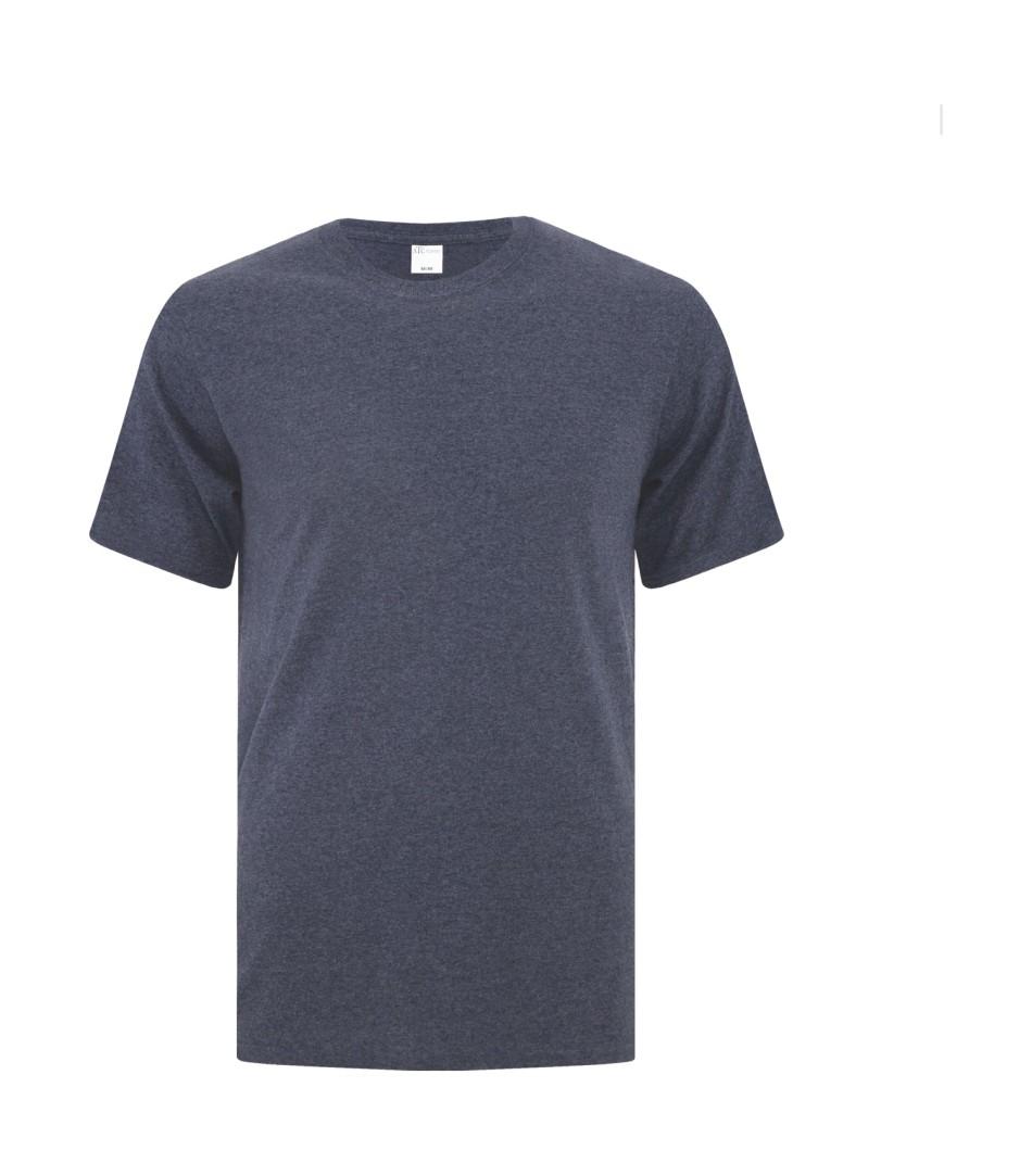 Heather Navy Unisex Everyday Cotton Tshirt